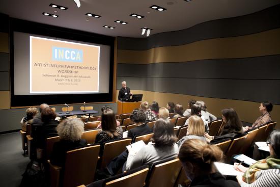 Glenn Wharton Presenting at the 2013 Artist Interview Workshop at the Guggenheim