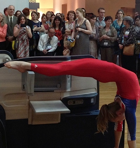 Allora & Calzadilla's Body In Flight (Delta) at the IMA performed by Sadie Wilhelmi