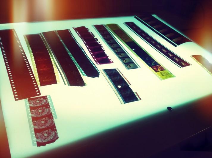 Segments of various film reels