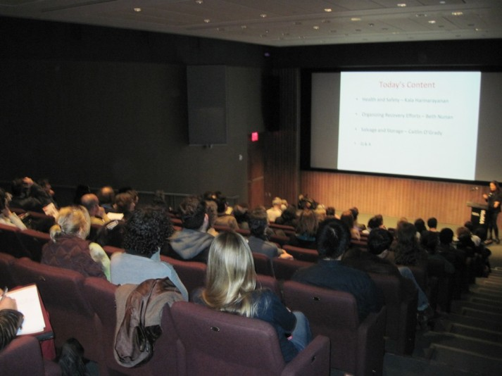 Second session at Consortium on Recovery of Works Damaged by Flooding – MoMA November 2012
