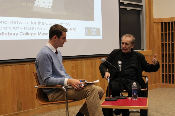 """Steven O'Banion and Vito Acconci discuss the """"Way Station"""" project"""
