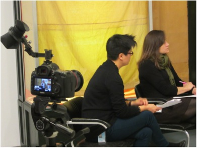 Canon Mark III as used for 2013 interview between Christo, Melissa Ho and Gwynne Ryan. Photo by Steven O'Banion.