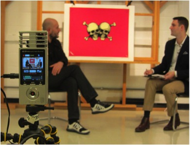 Zoom Q3HD as used for 2013 interview between Jake Chapman and Steven O'Banion. Photo by Caitlin Richeson