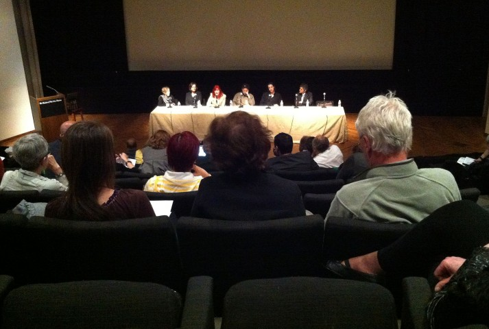 A Q&A panel at the FotoFest conference, hosted by the Museum of Fine Arts, Houston.