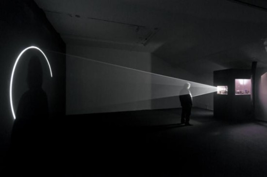 """Line Describing a Cone"" 1973 by Anthony McCall (b. 1946) © Anthony McCall, courtesy Sean Kelly Gallery, New York"
