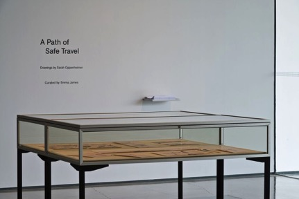 Installation view from A Path of Safe Travel, Hessel Museum of Art, Center for Curatorial Studies, Bard College, Annandale-on-Hudson, NY, April 3-24, 2016. Masters Thesis Exhibition curated by Emma James. Photo: Chris Kendall 2016.