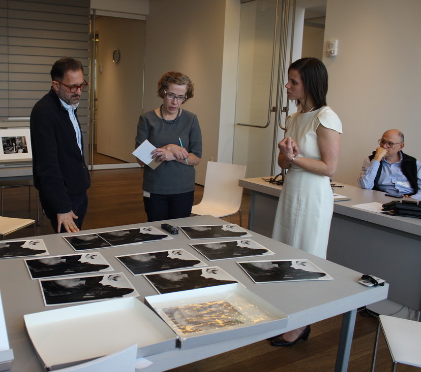 Gary Schneider and John Erdman visit to the Art Study Center, Image: Rebecca Torres © President and Fellows of Harvard College
