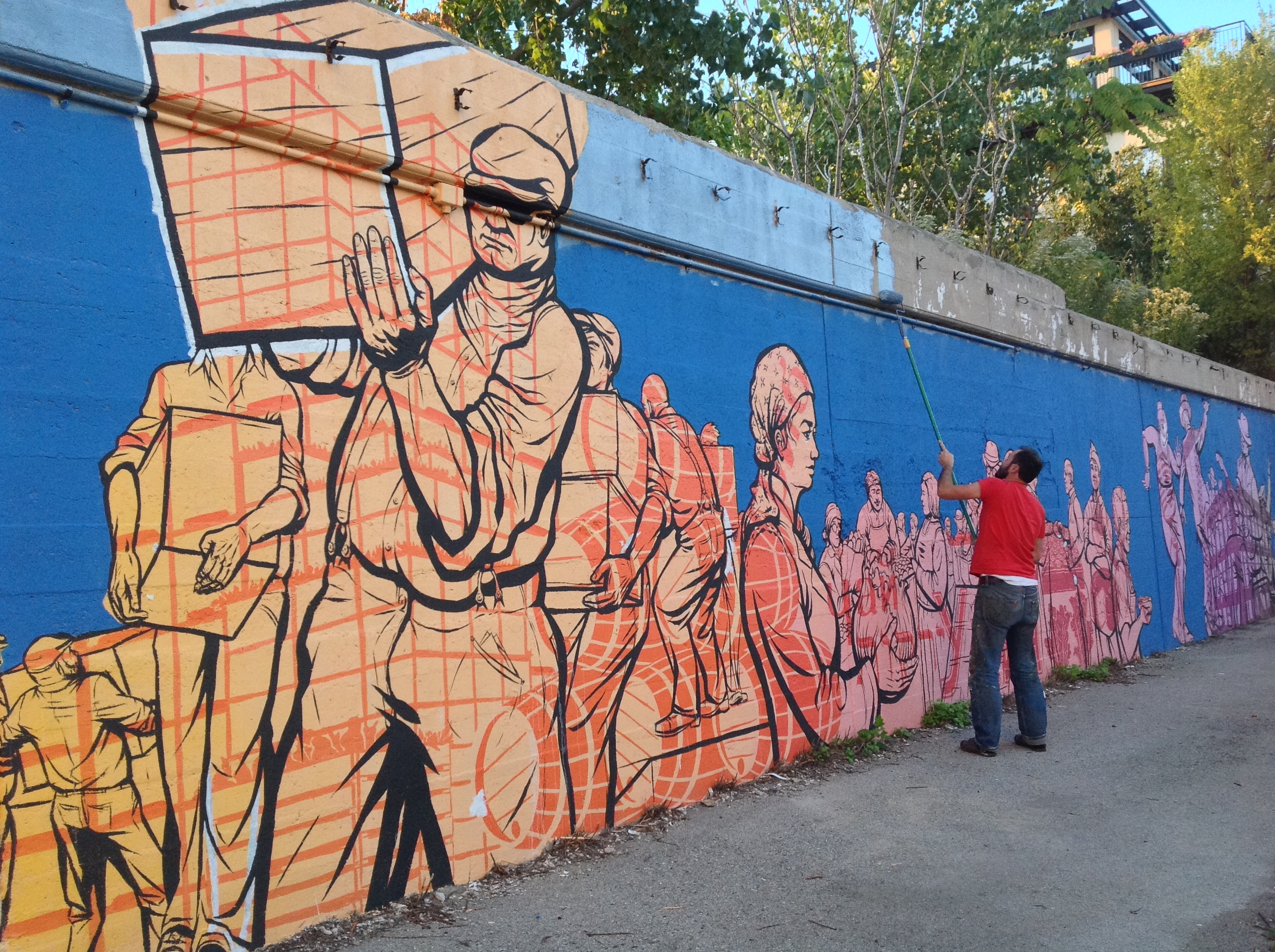 VoCA murals on morgan