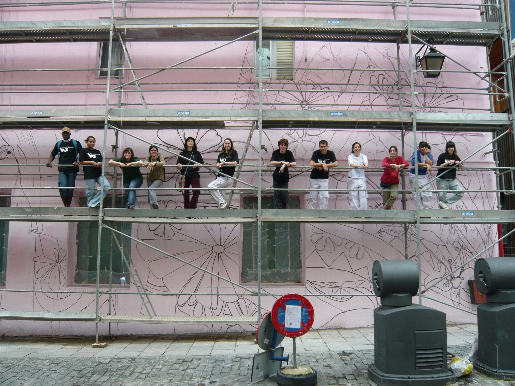 Participants in Mural Itinerary of Vitoria-Gasteiz, 2009, Photo credit: C. Werckmeister
