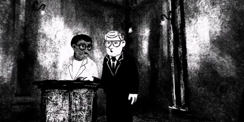 Courtroom interrogation scene, Accused no. 2: Walter Sisulu, VoCA, The Art of Visual Intelligence, Virtual Reality