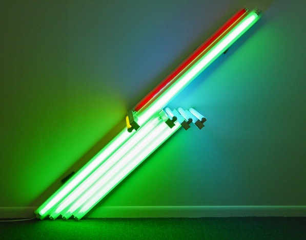 Dan Flavin, Untitled (for Conor Cruise O'Brien) 5c, 1990