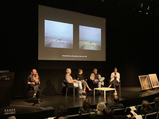 Artist panel with Janey Delaney,  John Divola, and Richard Misrach. VoCA. SFMOMA. Color Photography.