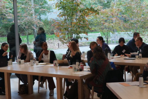 A photograph of the Artist Interview Workshop at Glenstone Museum