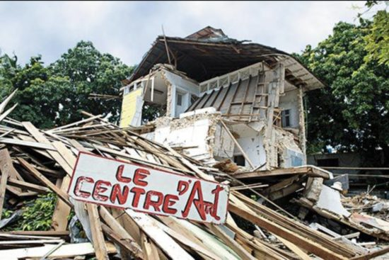 The aftermath of the 2010 earthquake that struck Haiti's art scene especially hard
