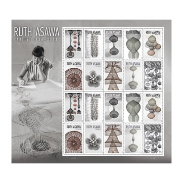 The Ruth Asawa Stamp sheet