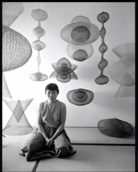 A 1954 photograph of Ruth Asawa