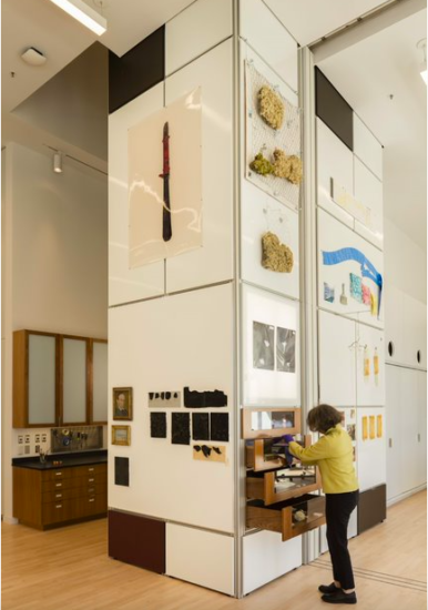A photo of SFMOMA's Inge-Lise Eckmann Lane Artist Materials Tower